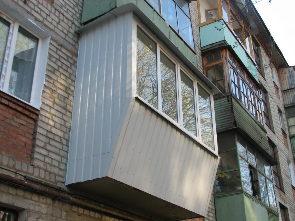 Новосибирск: обшивка (отделка) балкона снаружи, утепление ло.